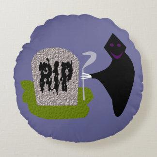 墓地のハロウィンの枕の死 ラウンドクッション