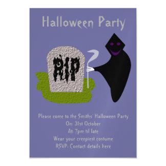 墓地のハローウィンパーティの招待の死 マグネットカード