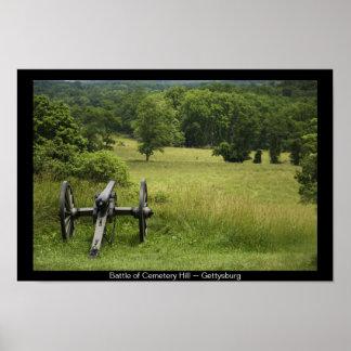 墓地の丘Gettysburgのキャノン ポスター