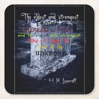 墓石のハロウィンのテーマの正方形のコースター スクエアペーパーコースター