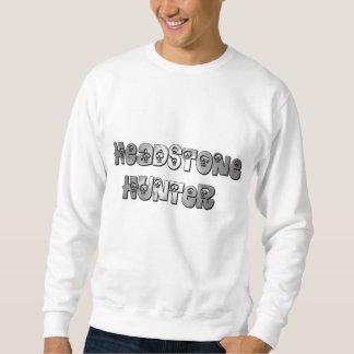 墓石のハンターの灰色および白いセーター スウェットシャツ