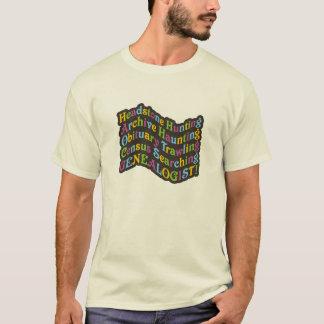 墓石の狩りのGenealogist Tシャツ