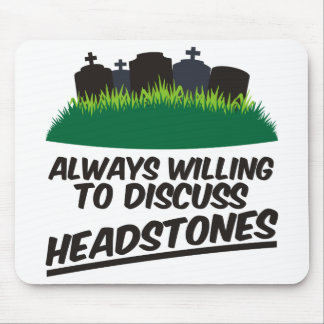 墓石を論議することを常に決定します マウスパッド