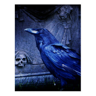 墓碑のワタリガラス ポストカード