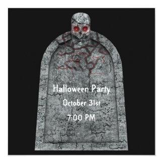 墓碑-ハローウィンパーティの招待状 カード
