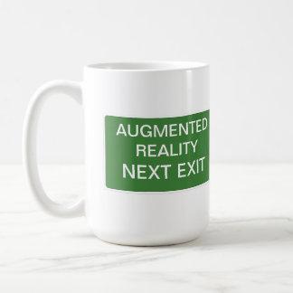 増加された現実の次の出口の印 コーヒーマグカップ