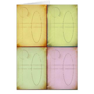 増加する色および形 カード