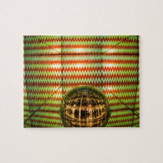 壁および鏡の球、抽象的な背景を映して下さい ジグソーパズル