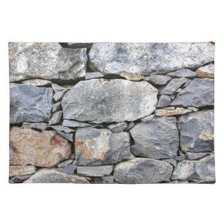 壁として自然な石のBackgound ランチョンマット