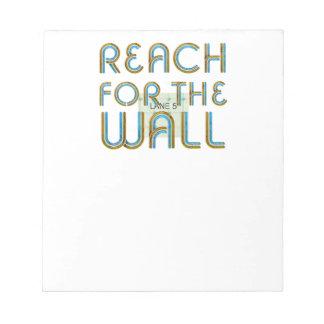 壁のための上の範囲 ノートパッド