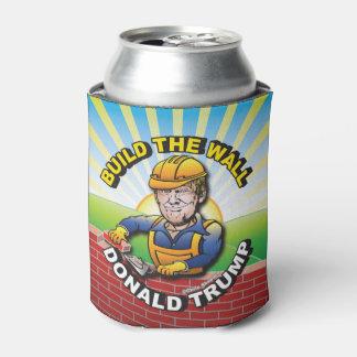 壁のドナルド・トランプの煉瓦層の石大工米国を造って下さい 缶クーラー