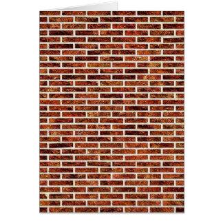 壁の別の煉瓦! (赤レンガパターン) ~ カード