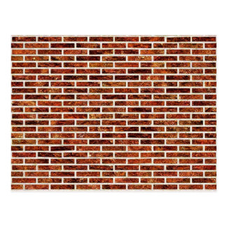 壁の別の煉瓦! (赤レンガパターン) ~ ポストカード