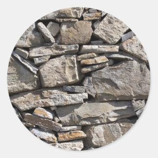 壁の大きく、小さい石 ラウンドシール