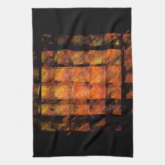 壁の抽象美術の台所タオル キッチンタオル