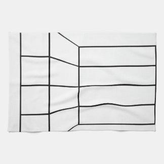 壁の抽象芸術の建築グラフの見通し キッチンタオル