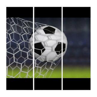 壁の芸術のパネルサッカーの球 トリプティカ