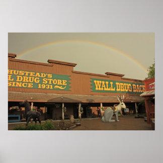 壁の薬剤上の虹 ポスター