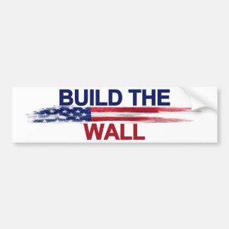 壁を造って下さい バンパーステッカー