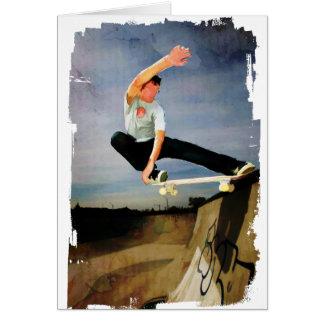 壁スケートボードをします グリーティングカード