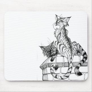 壁Iの猫 マウスパッド