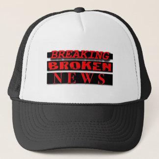 壊されたニュースのロゴの衣服の破損 キャップ