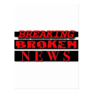 壊されたニュースのロゴの衣服の破損 ポストカード