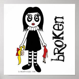 壊れたゴシックの人形ポスター ポスター
