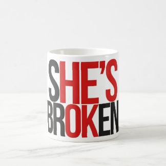 壊れたマグ コーヒーマグカップ