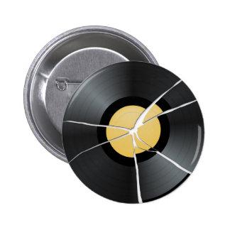 壊れたレコード 5.7CM 丸型バッジ