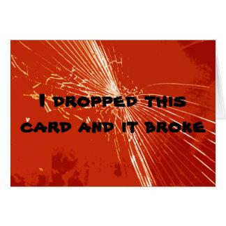 壊れた健康なカードを得て下さい カード