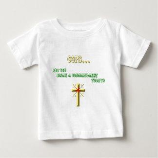 壊れた命令のクリスチャン ベビーTシャツ