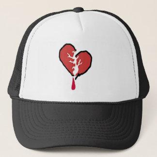 壊れた心がある帽子 キャップ