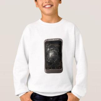 壊れた携帯電話 スウェットシャツ