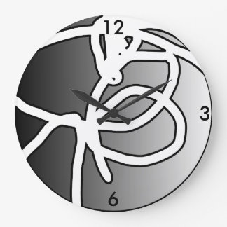 壊れた球体IIの円の時計 ラージ壁時計