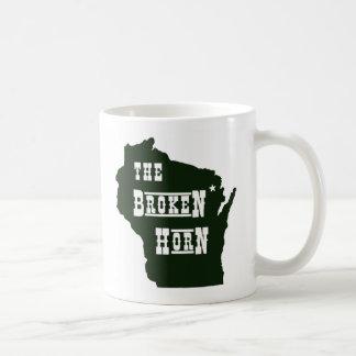 壊れた角のマグの緑 コーヒーマグカップ