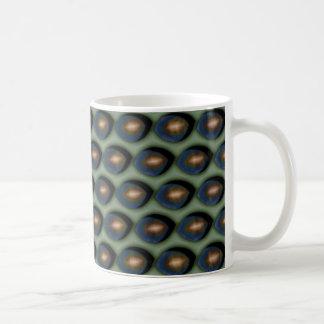 壊れた金ゴールドの目 コーヒーマグカップ
