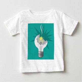 壊れた電球のベクトル ベビーTシャツ