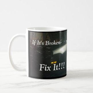 壊れた-それをマグ固定して下さい コーヒーマグカップ
