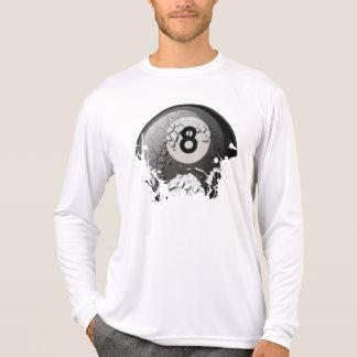 壊れた、割れた8球 Tシャツ