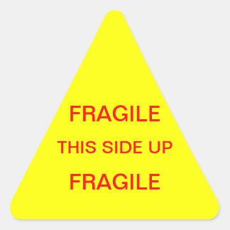 壊れやすいこの側面 三角形シール