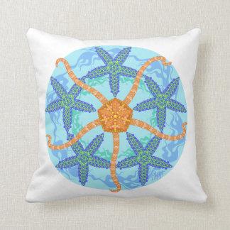 壊れやすいヒトデの曼荼羅の枕 クッション