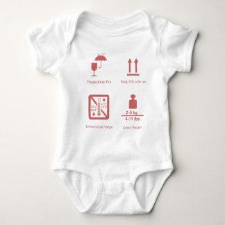 壊れやすい女の赤ちゃん ベビーボディスーツ