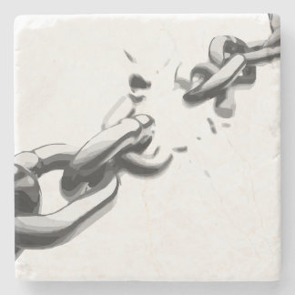 壊れる自由の鎖 ストーンコースター