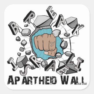 壊れ目のイスラエルのアパルトヘイトの壁 スクエアシール