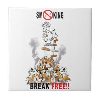 壊れ目自由停止喫煙 タイル