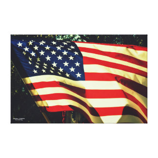 壮大で古い旗 キャンバスプリント