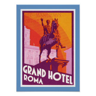 壮大なホテルローマ ポスター