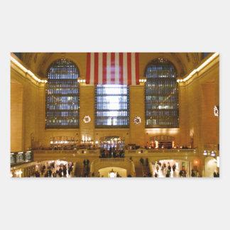 壮大な中央場所ニューヨーク 長方形シール