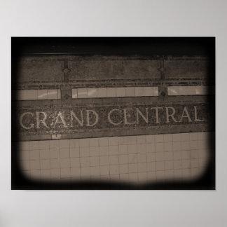 壮大な中央場所 ポスター